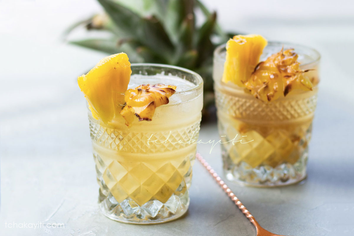 This fermented pineapple peel drink is a refreshing summer drink you want to add to your repertoire. It only requires two ingredients. | tchakayiti.com