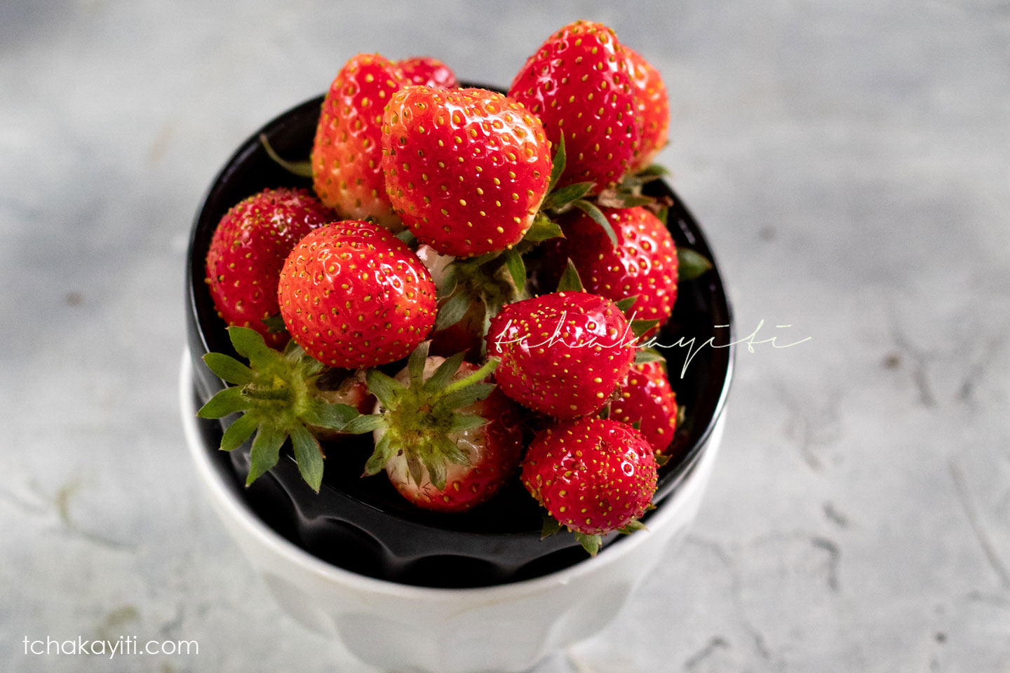 These strawberries are straight from our garden in Haiti. They're tiny but packed with flavors.   tchakayiti.com