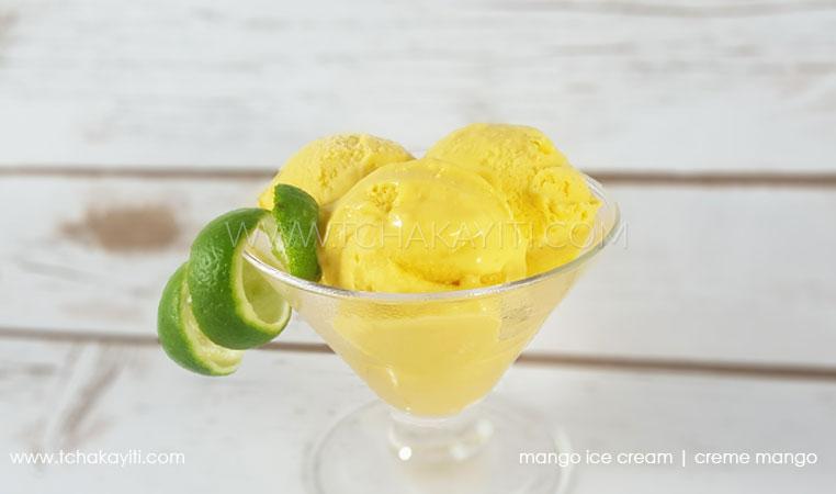 Haitian mango ice cream
