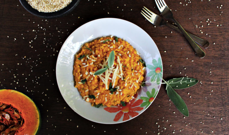 This risotto stlye pumpkin giraumon millet is easy to make and brings those grains to another level. Grab the recipe on the blog. | tchakayiti.com