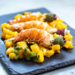 This ginger mango lobster salad is vibrant, spicy and hot just like summer. The best and easiest summer salad you'll ever prepare. | tchakayiti.com