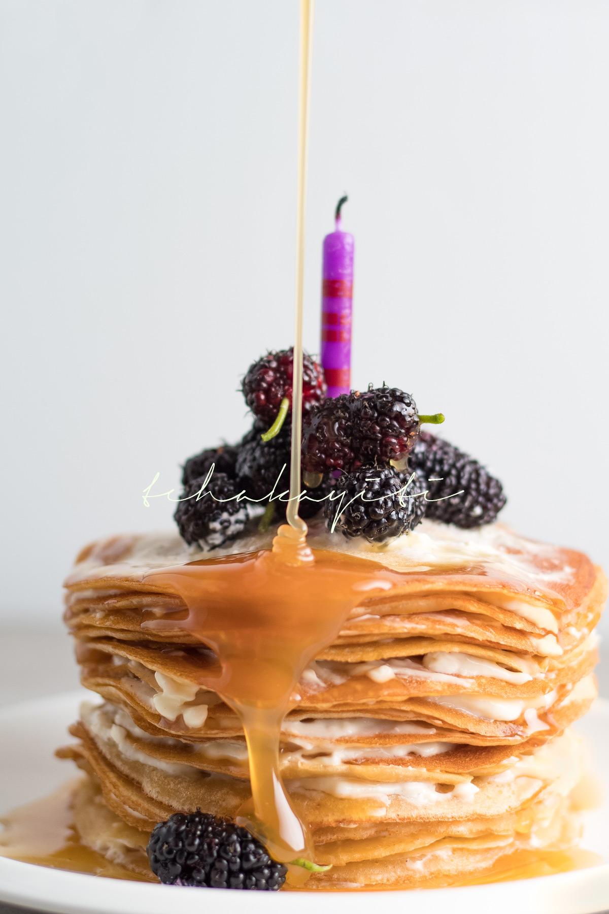 A celebratory crêpe cake. | tchakayiti.com