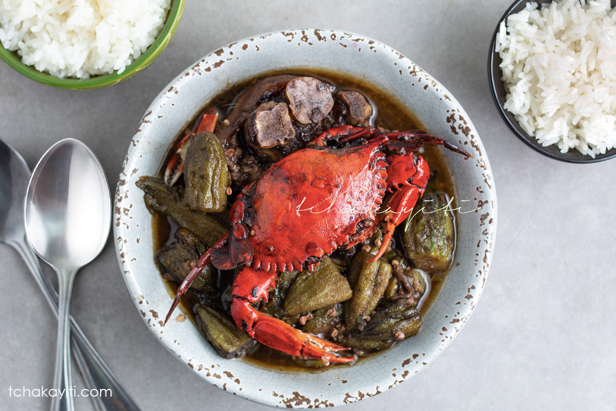 Try this Haitian okra stew. Infused with black mushroom, blue crabs and pork meat, it will leave you begging for seconds...and thirds.   tchakayiti.com