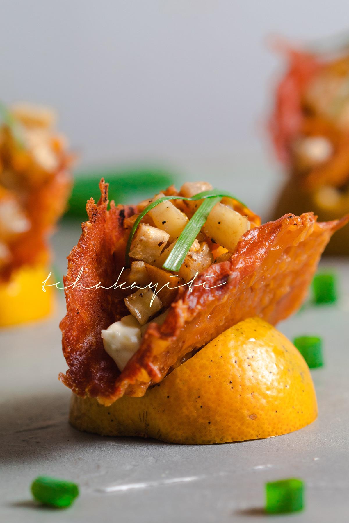 Fall roasted veggie tacos with a cheese shell. | tchakayiti.com