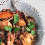Dombrèy, caribbean dumplings infused with flavors of okra, blue crab and djondjon, dark Haitian mushrooms | tchakayiti.com